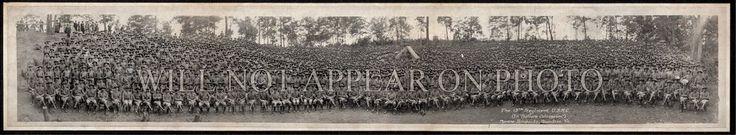 """1918 WW1 13th Regiment U.S.M.C. Marines Quantico VA Vintage Panoramic Photo 38"""""""