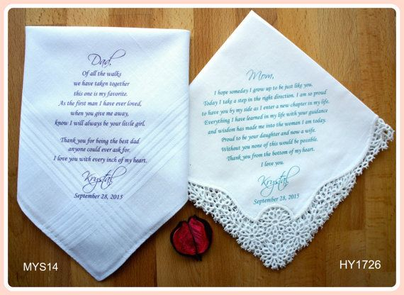 Wedding Gifts For Parents Handkerchief : ... of the Groom-5% OFF-Parents Wedding Gift Mothers, The ojays