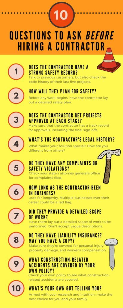 10 Questions You MUST Ask BEFORE You Hire a Contractor - Is your home under construction? Stay safe by practicing these safety precautions shared by Nationwide #ad