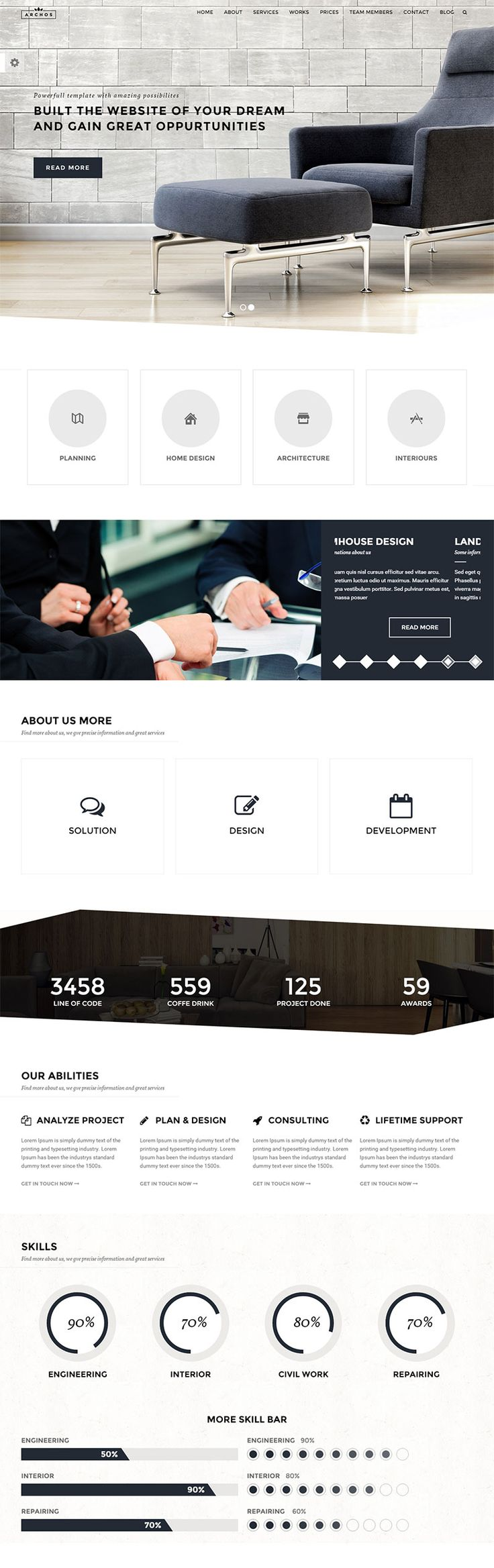 Architect, Construction & Business WordPress theme is ideal and specially build for architects, creative agencies, interior design, construction, building, and architecture websites.