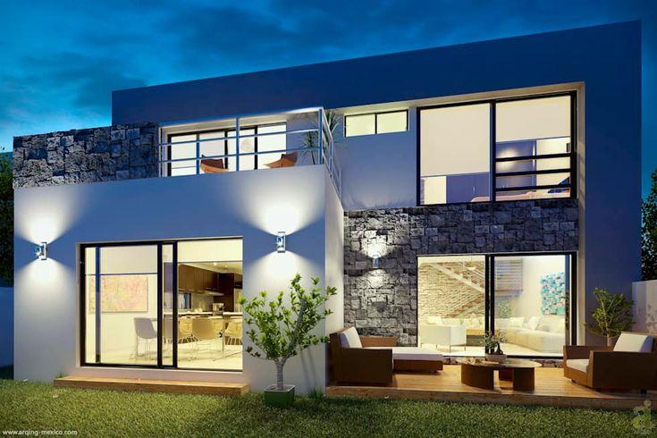 E2 Courtyard: Casas de estilo minimalista por arQing