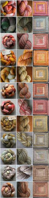 1. Spin each braid into yarn. 2. Knit each yarn into afghan square. 3. Assemble into gorgeous handspun blanket!