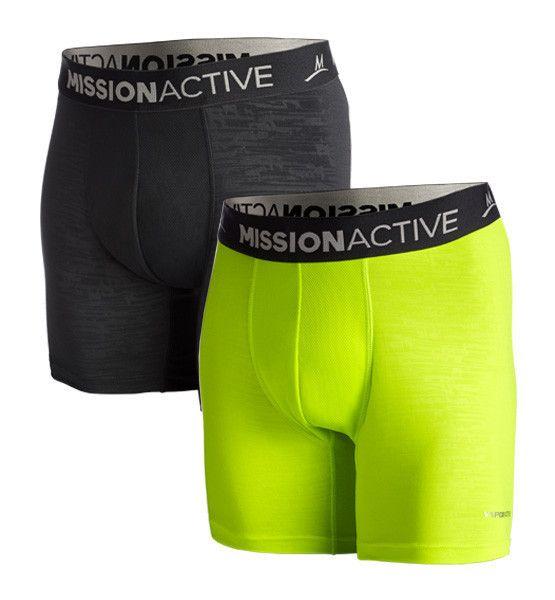 VaporActive Boxer Briefs - 2-Pack   Hi Vis Green / Black