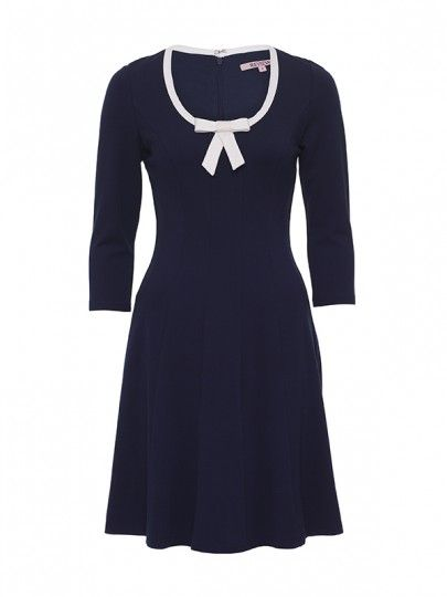 Review Australia   Monte Bow Dress in Navy and Cream. How insanely adorable is this dress?! Add a splash of red to really make this dress pop! :)