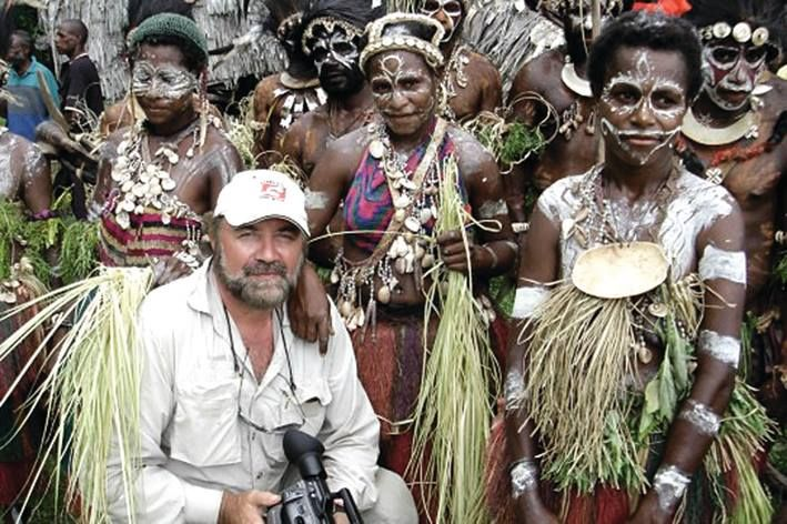 Lubo Todorov, the man behind the vision, on location upon the Sepik River.  Ewa Oceanic Sepik Art Gallery.