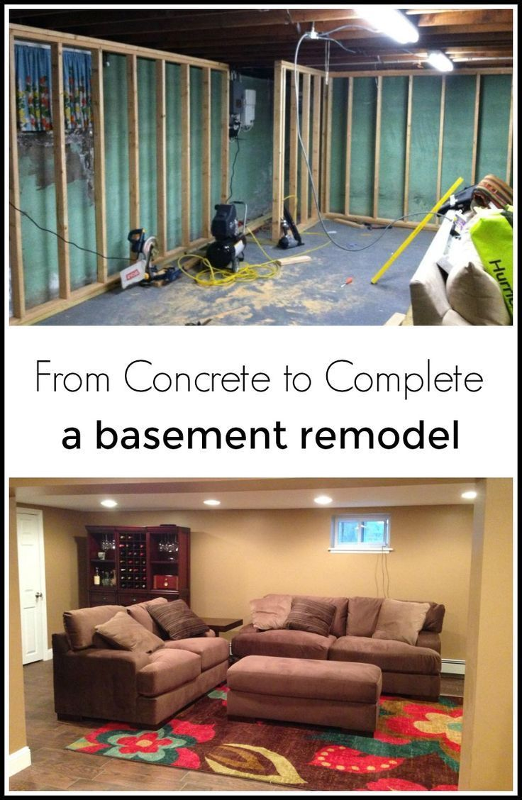an entire basement remodel from concrete to