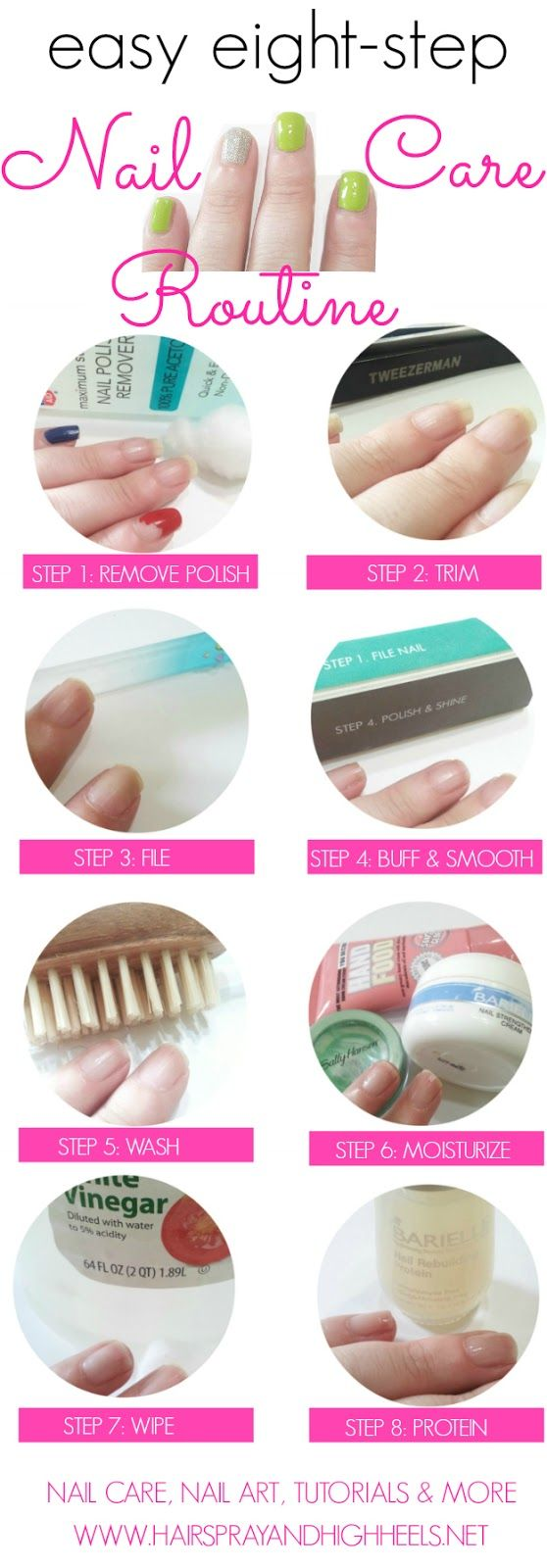 Nail Care Routine  via @Hairspray and HighHeels #nails