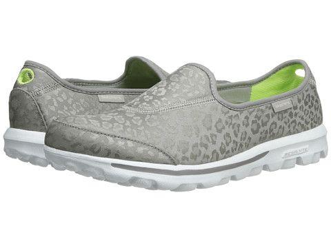 SKECHERS Performance Go Walk - Safari Silver - Zappos.com ...