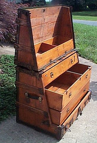 Antique Steamer Trunk #320
