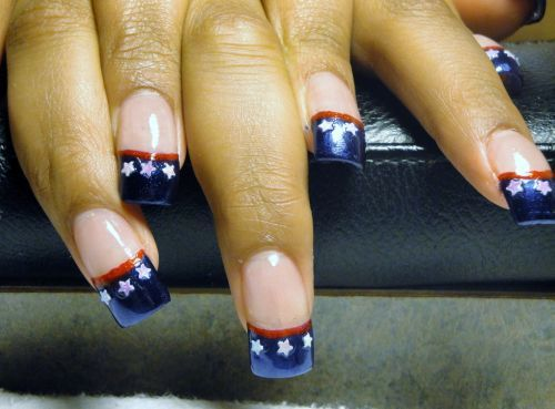 167 best nails images on pinterest nail nail nice nails and patriotic nail designs with flag elements on the tips patriotic nail designs to welcome world cup 2014 prinsesfo Image collections
