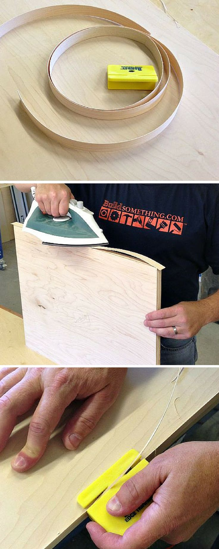 TIP: Love building with plywood but hate those unfinished edges? Cover them up…