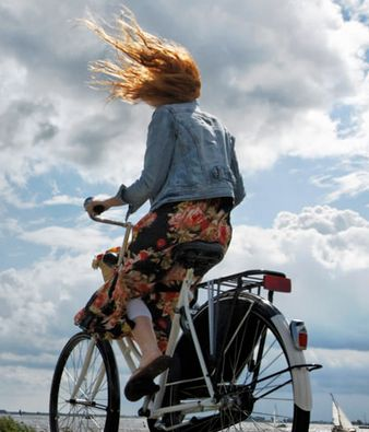 As Holland is generally flat it makes for easy cycling, the main problem is the wind if it's against you it can be hard work.