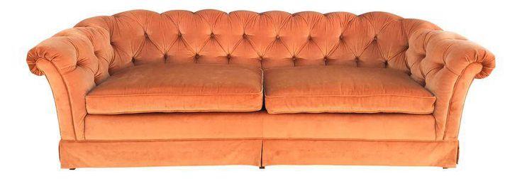 Vintage Drexel Heritage Chesterfield Style Sofa on Chairish.com