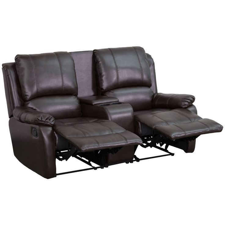 Complete your theater room with this comfortable theater style seating. The soft leather will keep you comfortable as you sit down with friends and family for movie night or while playing video games.