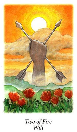 Free Daily Tarotscope — Dec 16, 2015 — Two of Fire -- Two of Fire   Today's card — the Two of Fire, the Vision Quest Tarot's version of the Two of Wands, speaks of drawing on your inner reserves of self-confidence and initiative to make something happen. (more)...