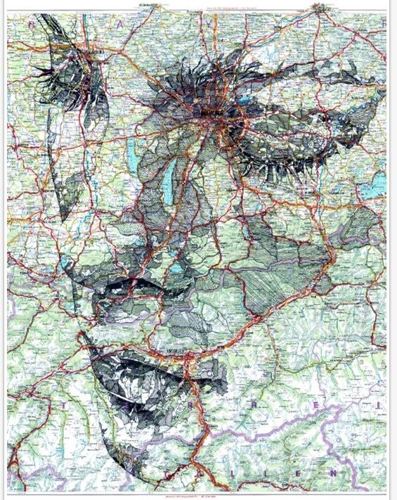 Cool map illustration