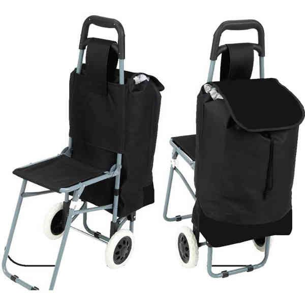 trolley shopping bag with folding chair metals shopping and places