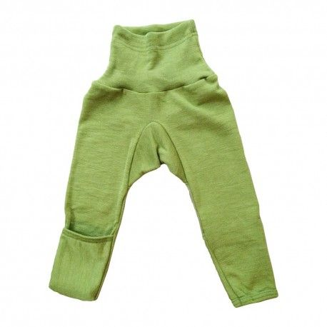 Baby pants, wool/silk, green, Cosilana