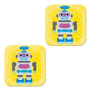 Robot Plate Yellow, French Bull