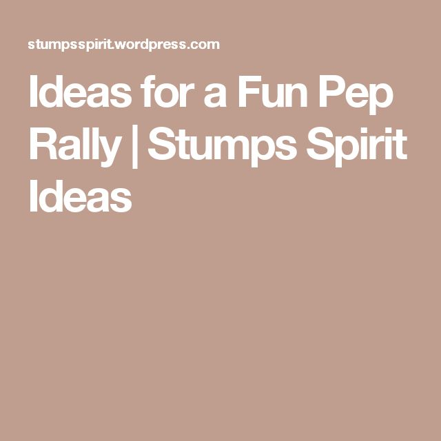 Ideas for a Fun Pep Rally | Stumps Spirit Ideas