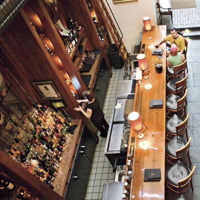What a great idea!  Charleston's Appetizer Crawl.  Hit several restaurants in one night...  (photo, McCrady's long bar)