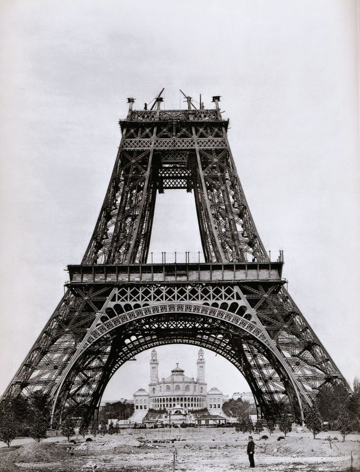Eiffel Tower during construction (1888)