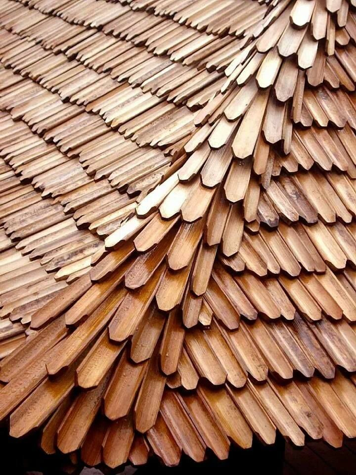 This bamboo roof is too cool.  It is trendy, modern, and unique.#architecture #roofing #Modern