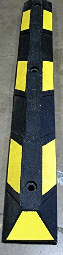 3 ft (36 in) Curb Rubber Block Parking Curb Wheel Stop for Car, RV, Trailer, Garage, Driveway or Parking Lot (Black with Yellow Reflective Stripes) - http://www.caraccessoriesonlinemarket.com/3-ft-36-in-curb-rubber-block-parking-curb-wheel-stop-for-car-rv-trailer-garage-driveway-or-parking-lot-black-with-yellow-reflective-stripes/  #Black, #Block, #Curb, #Driveway, #Garage, #Parking, #Reflective, #Rubber, #Stop, #Stripes, #Trailer, #Wheel, #Yellow #Car-Wheels, #Tires-Wheels