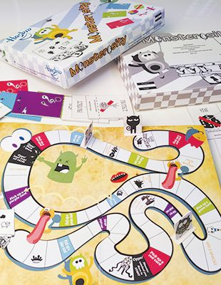 Monsterosity board game design by RMIT University graphic design student, Olivia Hu Yaqiong.