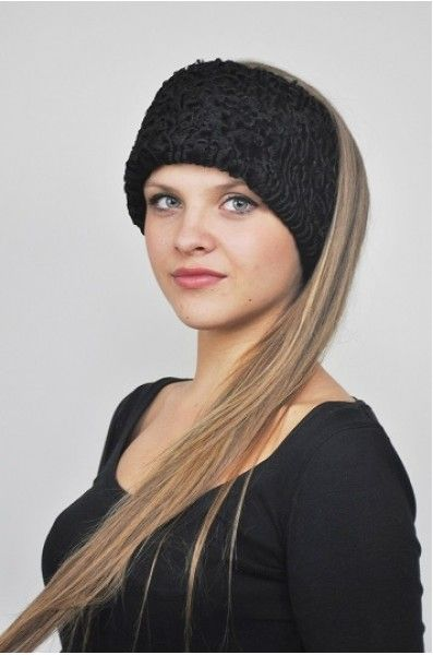 beautiful girl wearing Karakul hat  f19b170b386d