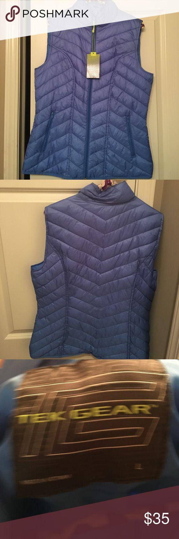 NWT Women's Large Blue Vest! NWT! Women's large blue vest! Has two pockets. Smoke free home tek gear Jackets & Coats Vests