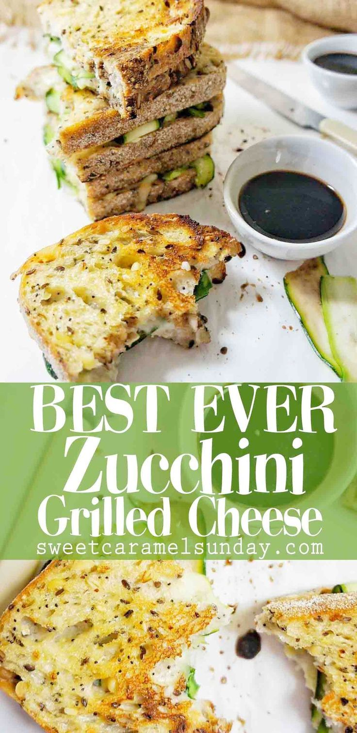 Zucchini Grilled Cheese Is A Ridiculously Easy And Tasty Sandwich This Veget Vegetarian Zucchini Recipes Vegetarian Grilled Cheese Vegetarian Sandwich Recipes