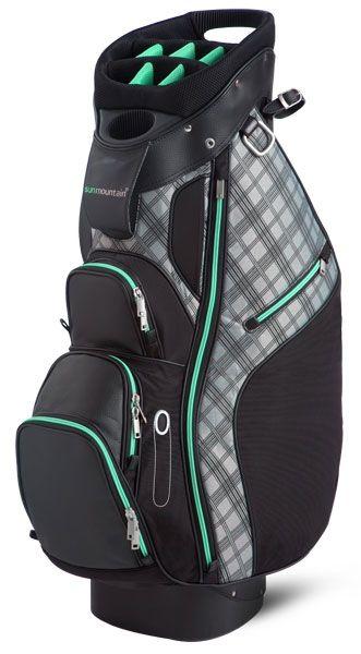Sun Mountain Ladies Diva Cart Golf Bags - Black & Aqua Lori's Golf Shoppe