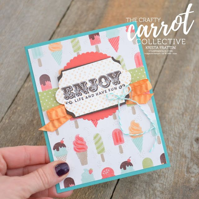 Stampin' Dolce: Suite Sentiments Blog Hop - The Crafty Carrot Co