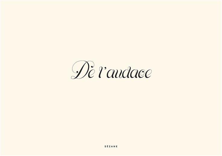 De l'audace  Sezane Typography Card #sezane #journalsezane