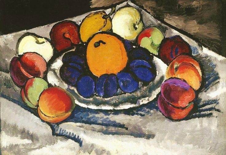 Илья Машков «Синие сливы» 1910 г. Холст, масло. Государственная Третьяковская галерея, Москва, Россия