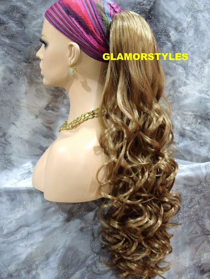 Blonde Long Layered Wavy Ponytail Hair Piece Extension Claw Clip in/on 18.22 #Glamorstyles #HairExtension