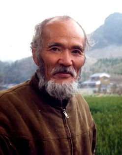 Masanobu Fukuoka, author of One Straw Revolution and teacher of natural and unconventional farming techniques. I recommend his book to everyone, it is full of insights even if you're not a farmer!