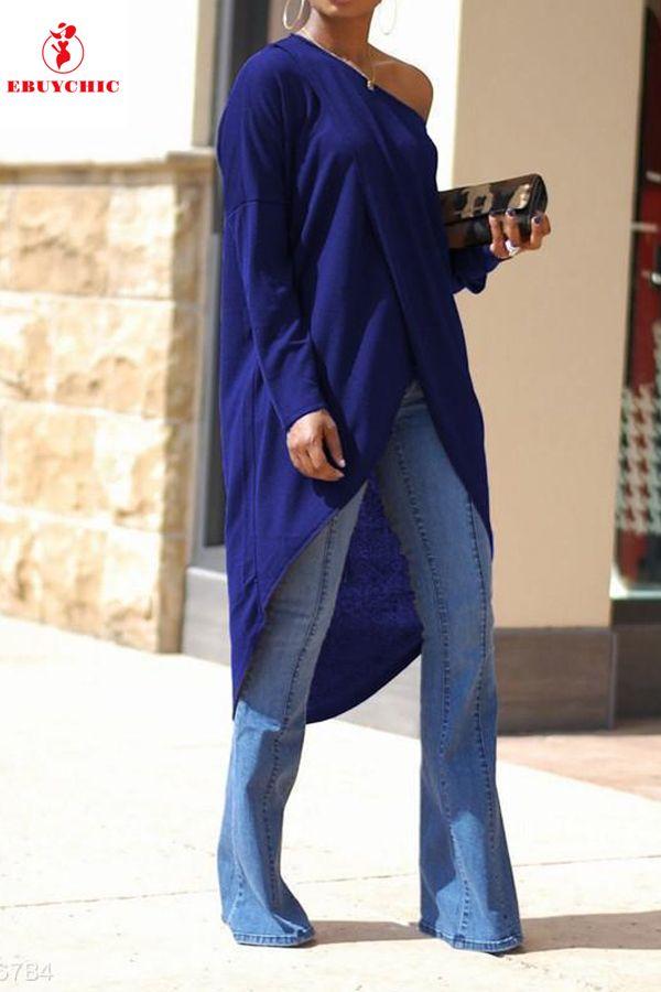 Irregular High Split Long Sleeve Off Shoulder Dress