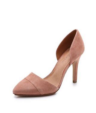 suede d'orsay heel / madewell