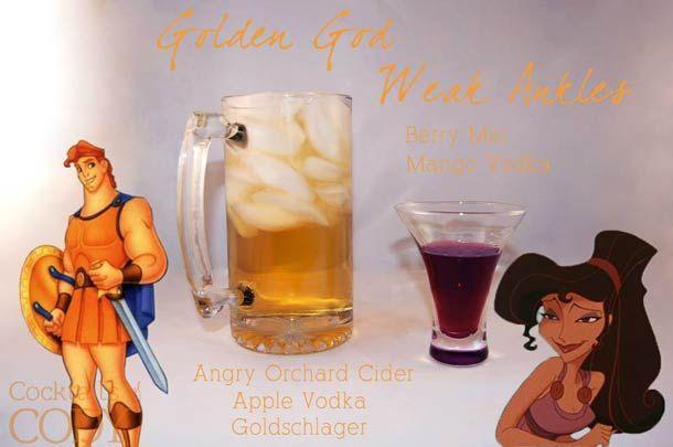 Cocktail Hercules  verger en colère, Vodka pomme, Goldschläger