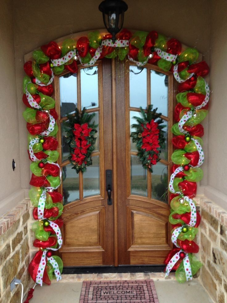 1000 ideas about deco mesh garland on pinterest mesh for Door garland christmas