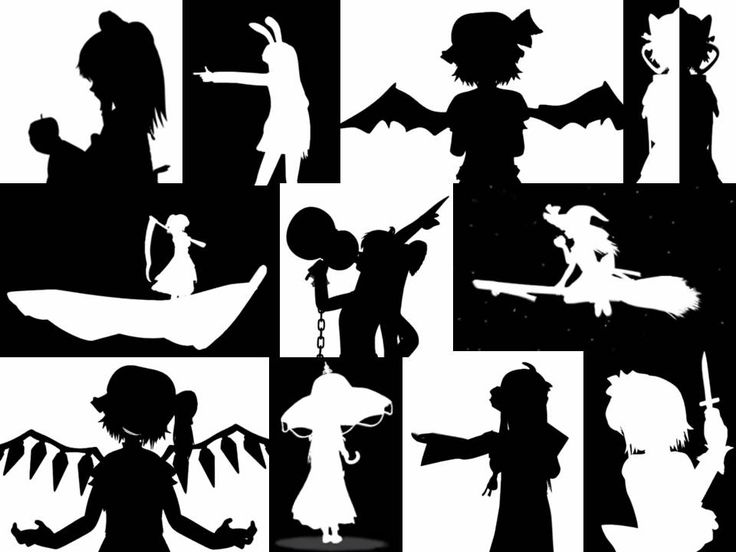 Touhou - Bad Apple I love the stills of the characters