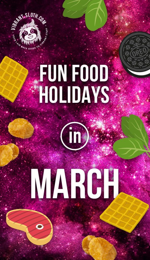 🥩 Once again we have a selection of fun food holidays ready for you. This March we'll have some peanut butter, meatballs, Oreos, and whiskey. Let's get eating and celebrating! Keywords: Food holidays, Fun holidays, Date ideas, Funny holidays, National days, Steak day, Whiskey day, Gift ideas, Holiday calendar, Novelty holidays