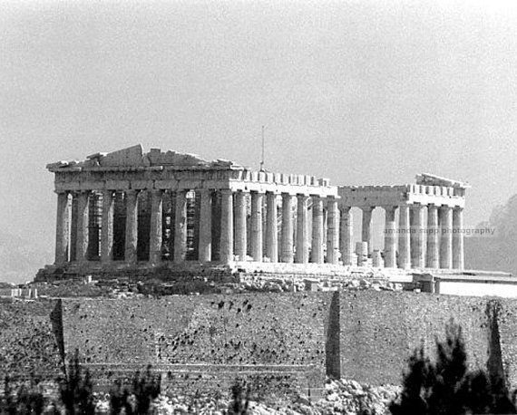 Parthenon Athens Greece black and white 8 x 10 by carolsapp, $14.00