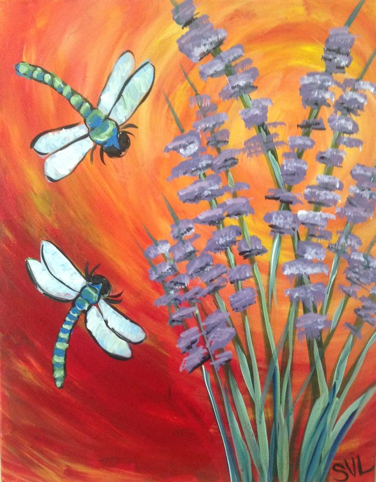 1708 best paint class ideas images on pinterest canvas for Spring canvas paintings