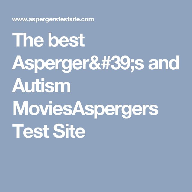 The Best Aspergers And Autism Moviesaspergers Test Site