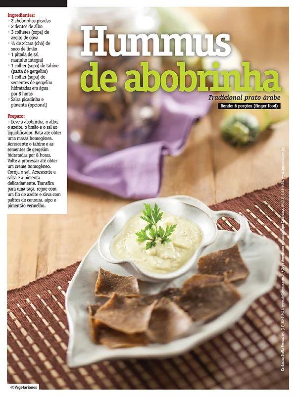 Receita: Hummus de abobrinha | Gourmet da Horta