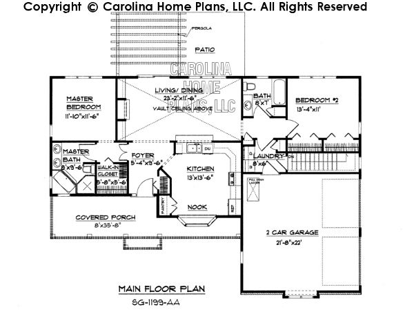 Small Ranch Style House Plan SG 1199 Sq Ft | Affordable Small Home Plan