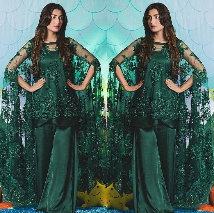 Gorgeous Ayeza Khan in Emerald Green Outfit on her daughter Hoorain 2nd Birthday Party!  Styled by #AnilaMurtaza Outfit by #AnsabJahangirStudio Jewelry #Mahrukh-Akuly-Jewelry#Gorgeous #ElegantStyle #AyezaKhan #LuxuryFashion #Hoorain #BirthdayCelebration #ThemeMermaid #PakistaniFashion #PakistaniActresses #PakistaniCelebrities